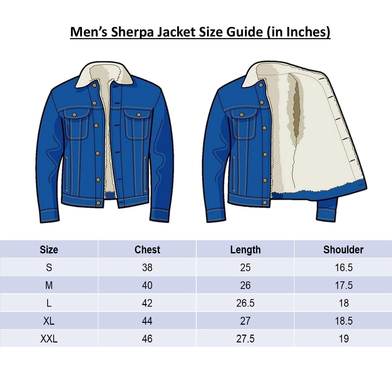 Impaurito_Black Jacket_Size_Chart